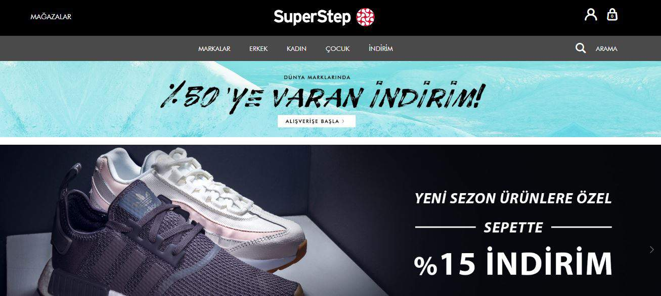 The best Turkish shopping sites Superstep