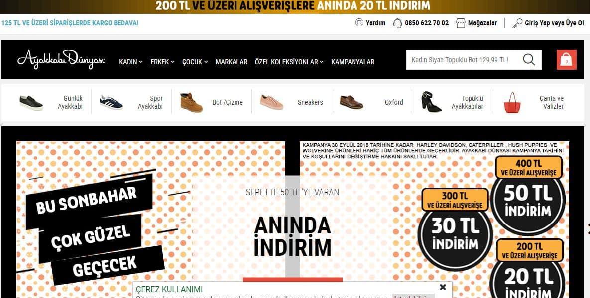 The best Turkish shopping sites AYAKKAB DUNYASI