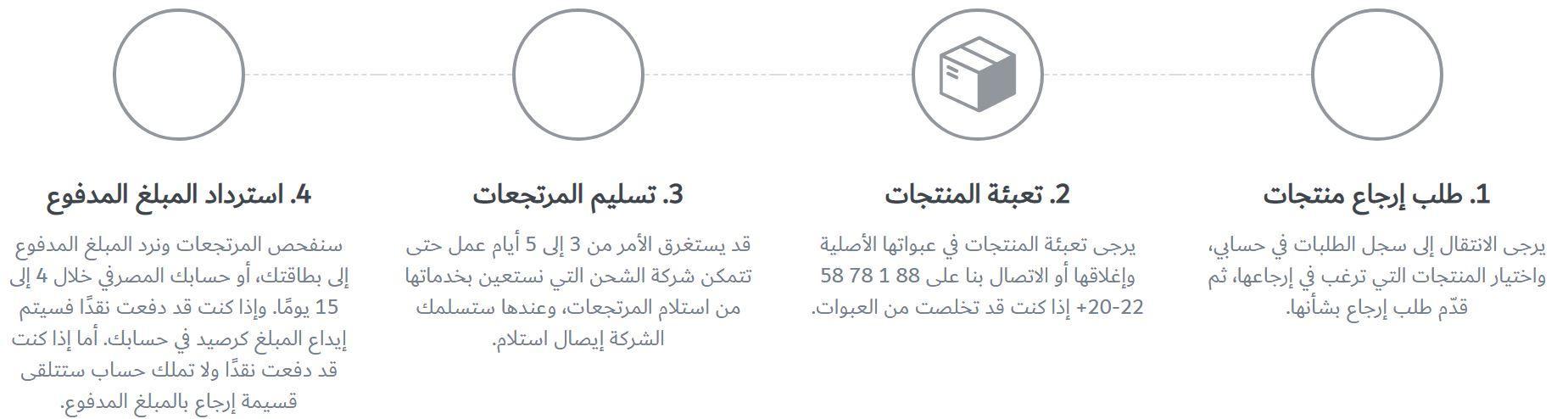 ارجاع الطلبات من ماكس مصر